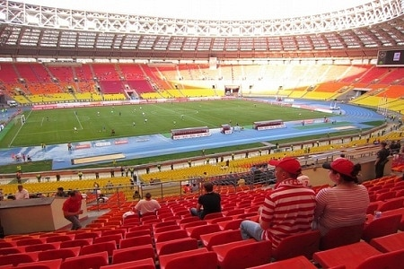 A landscape view of Luzhniki stadium