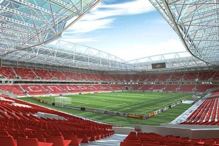 A landscape view of the Otkrytiye Arena