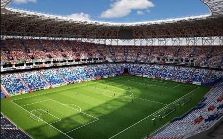 A landscape image of Mordovia stadium