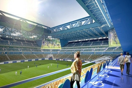 Russia 2018 Kaliningrad stadium looking ready