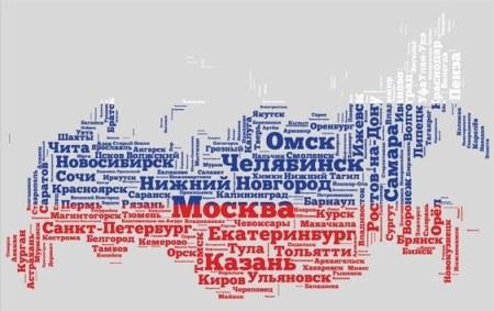 Artistic Russian map