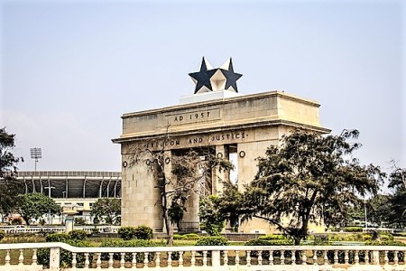 The Independence Arch of Independence Square of Accra in Ghana