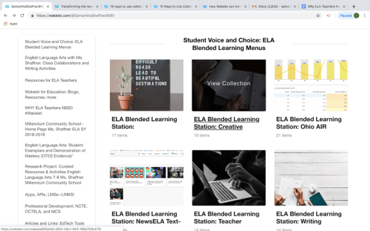 Blended learning with Wakelet in the ELA classroom