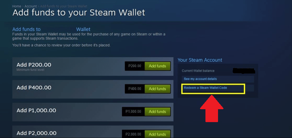 How To Redeem Steam Gift Card Or Wallet Code Steam