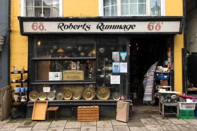 Shopfront of Robert's Rummage, Hastings