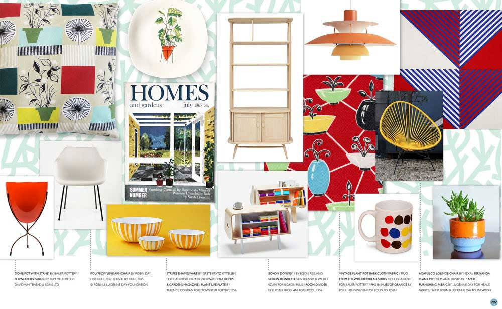 Spread from Mini Modern's Mid Century Modern Living