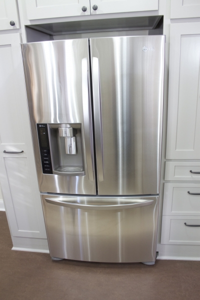 LG Stainless Steel Refrigerator with Exterior Ice Maker