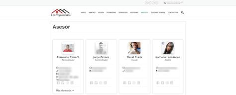 Presenta tu equipo de asesores en la página Web de tu inmobiliaria