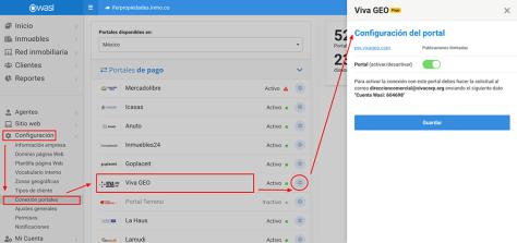 Disponible conexión con el portal Viva GEO