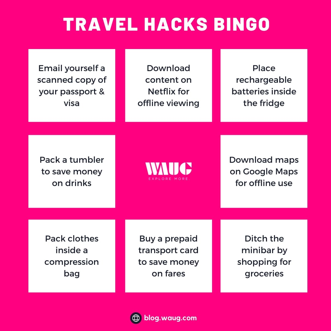 travel-hacks-bingo