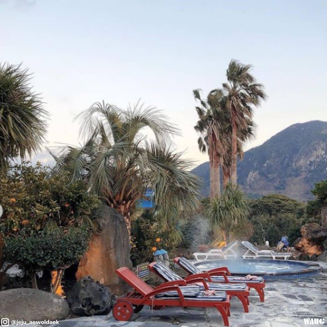 sanbangsan hot spring jeju