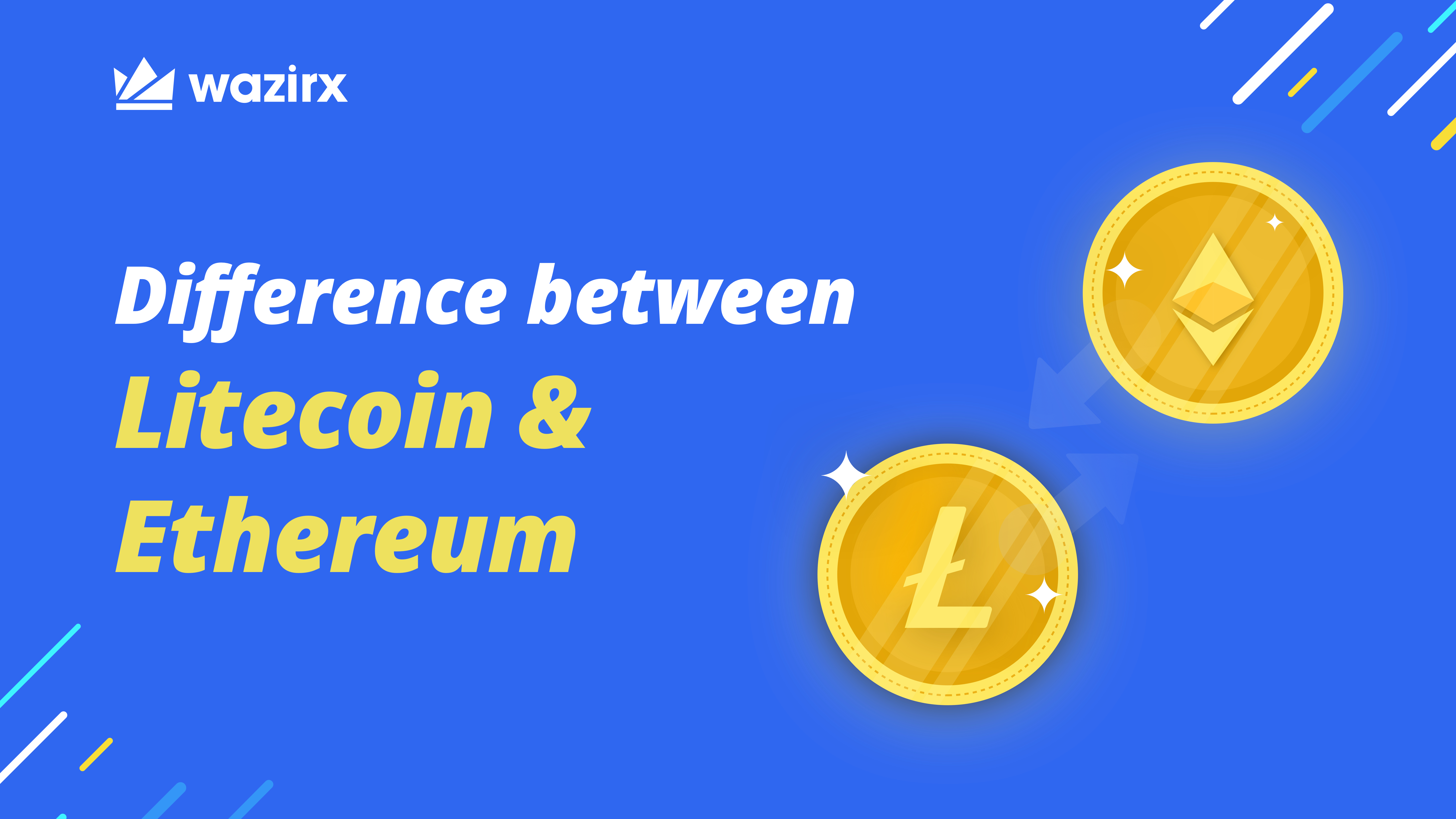 Difference between Litecoin and Ethereum - WazirX