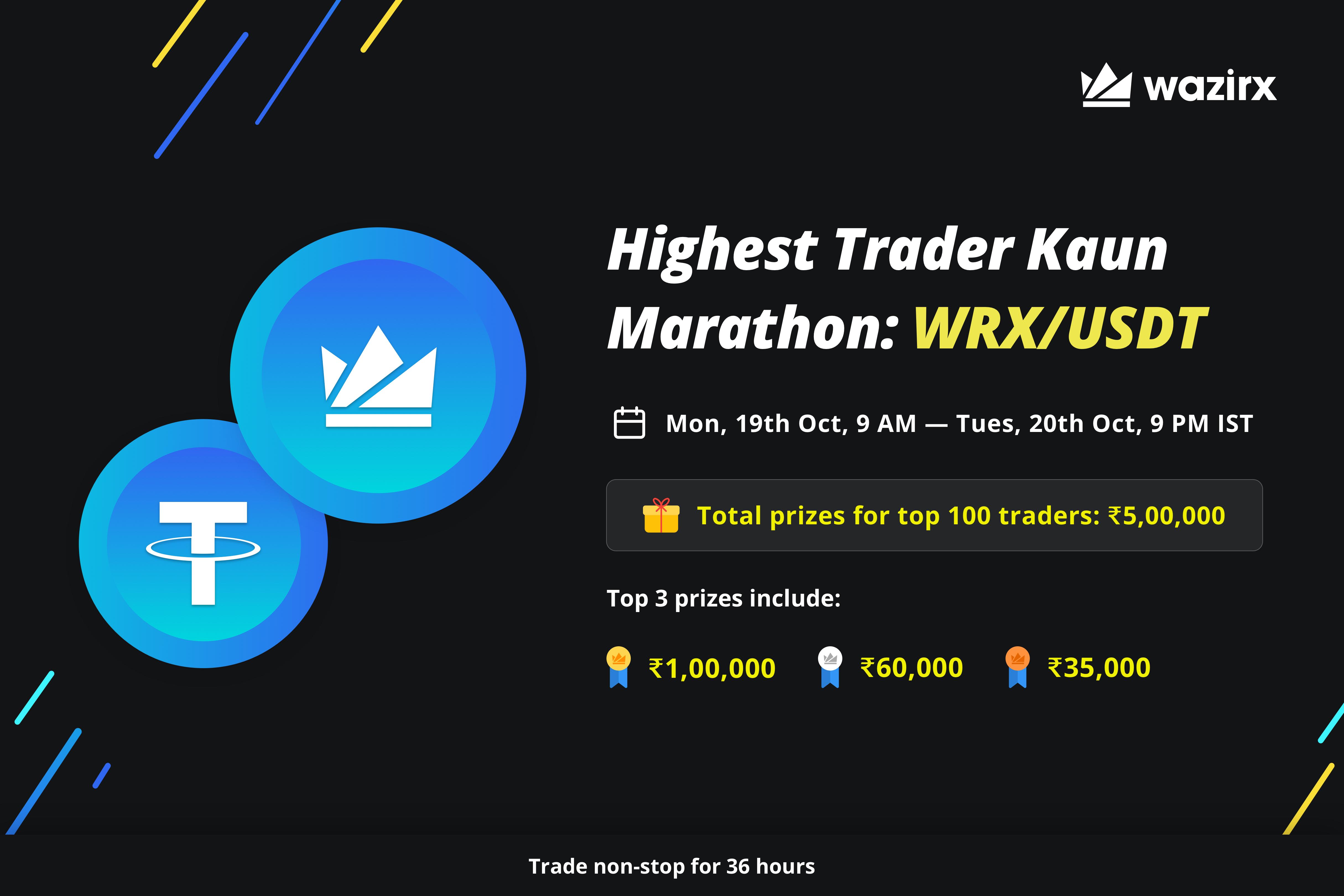 Highest Trader Kaun Marathon: WRX/USDT