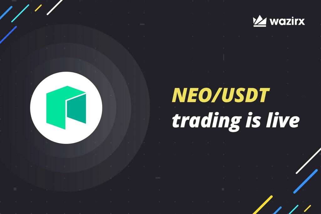 NEO/USDT trading is live on WazirX