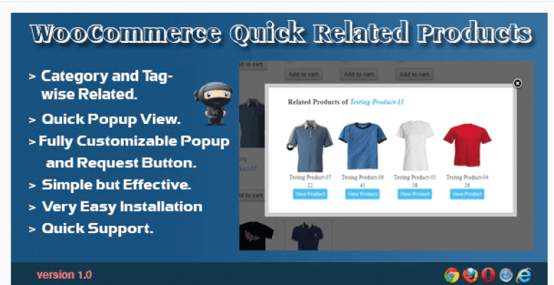 woocommerce quick related products