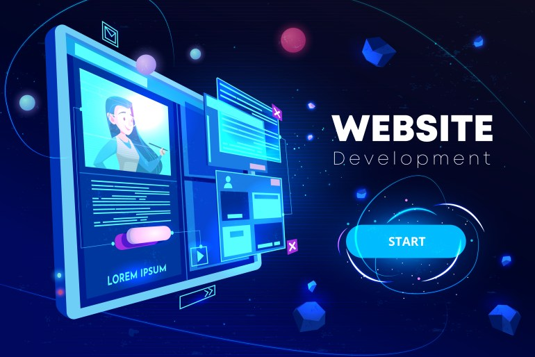 create website for selling services