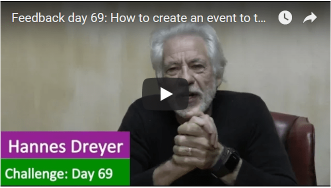 [Day 69] How To Create An Event To Turn 2 Cents Into Millions