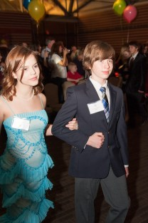 Cameron and partner at the ball held at the end of his cotillion class.