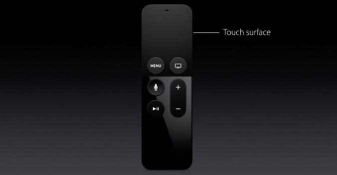 Télécommande de l'Apple TV