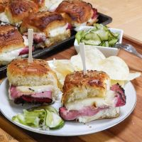 Hot Pastrami Sliders #SundaySupper