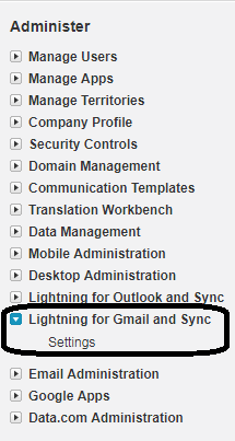 Access Salesforce from Gmail