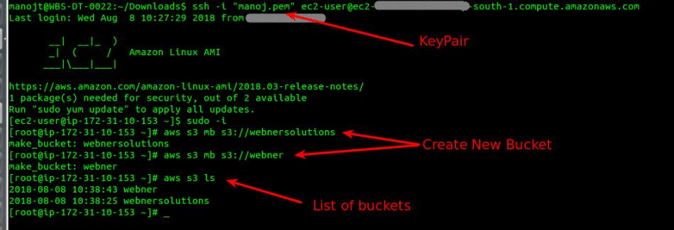 Access S3 buckets