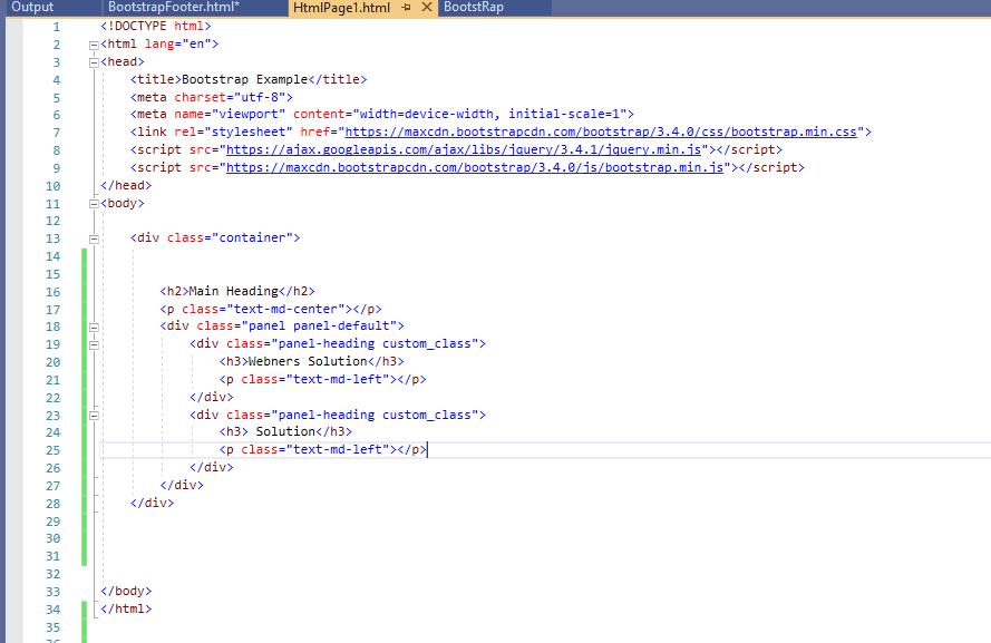 bootstrap panel 3