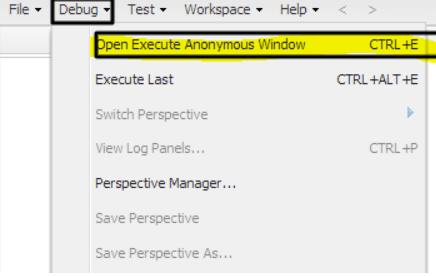 Developer Console editor