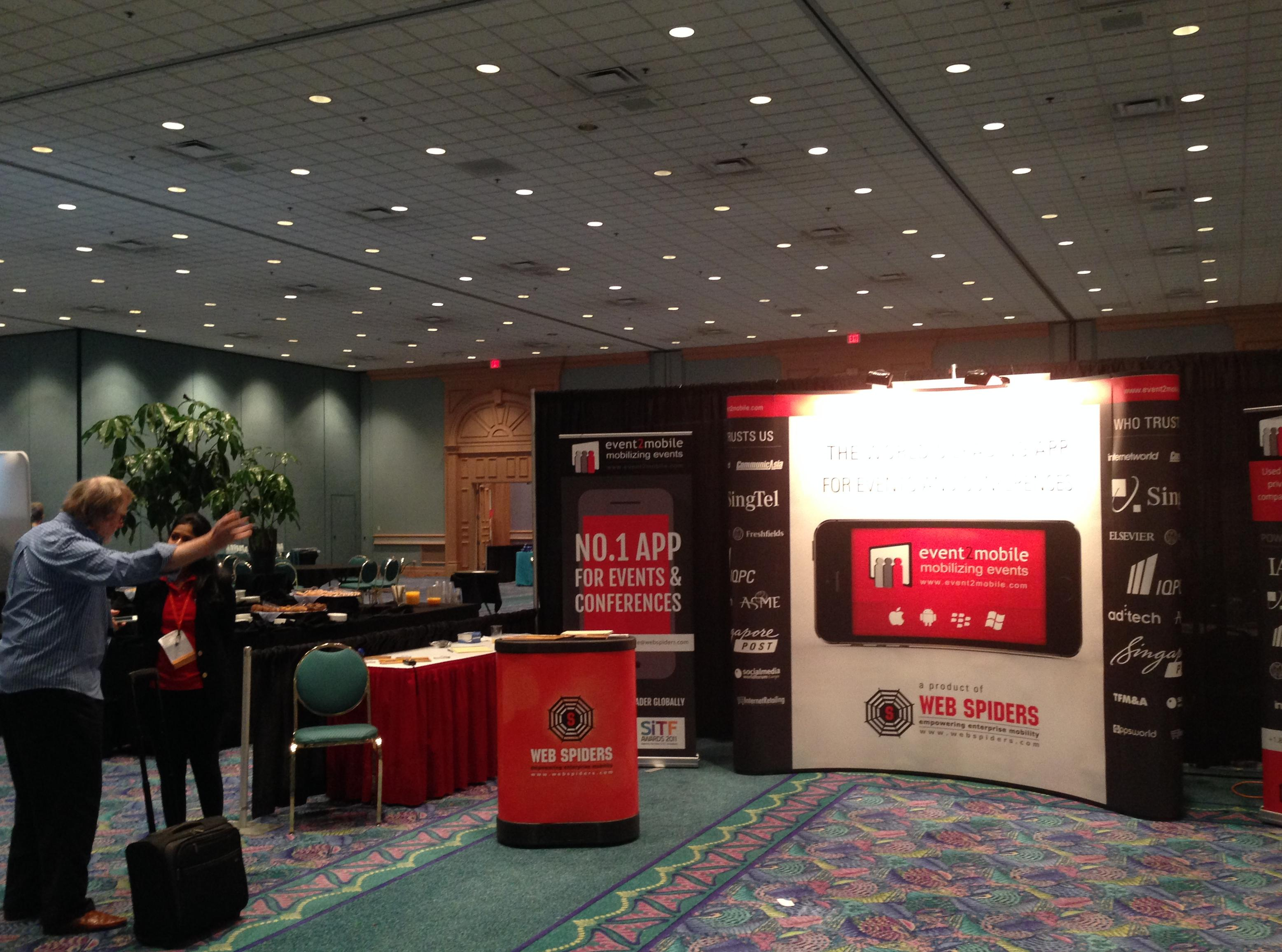 event2mobile was the Silver Sponsor at Meetings Technology Expo 2014, Chicago