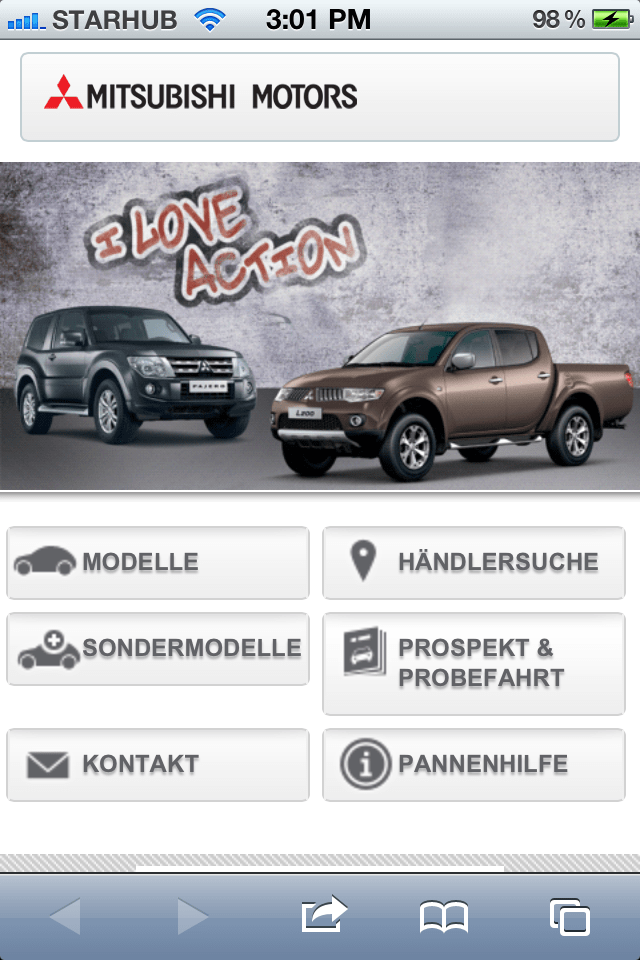 Web Spiders Develops Mobile Website For A Multinational Automaker