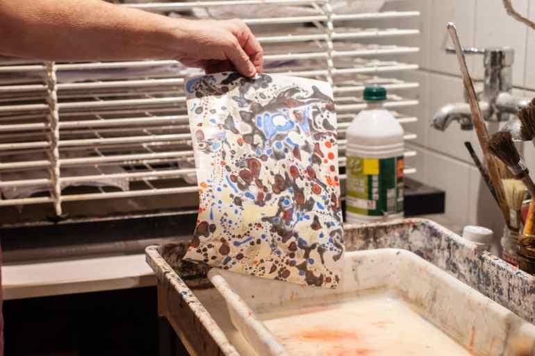 Le suminagashi ou l'art japonais du papier marbré
