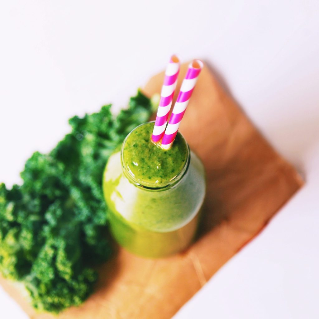 smoothie with matcha
