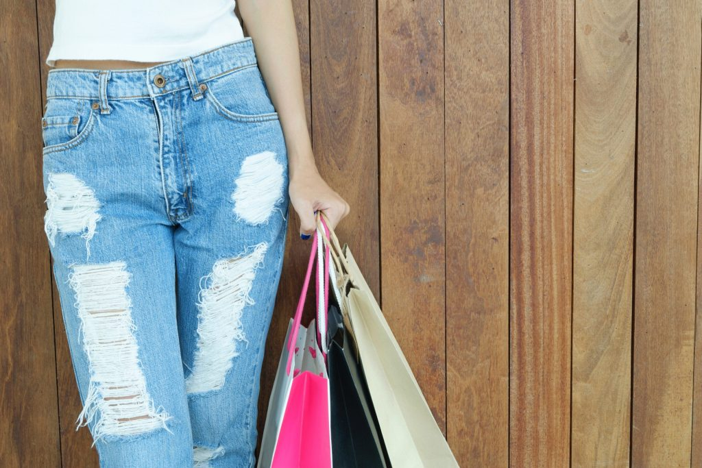 Looser clothes as sign you are losing weight