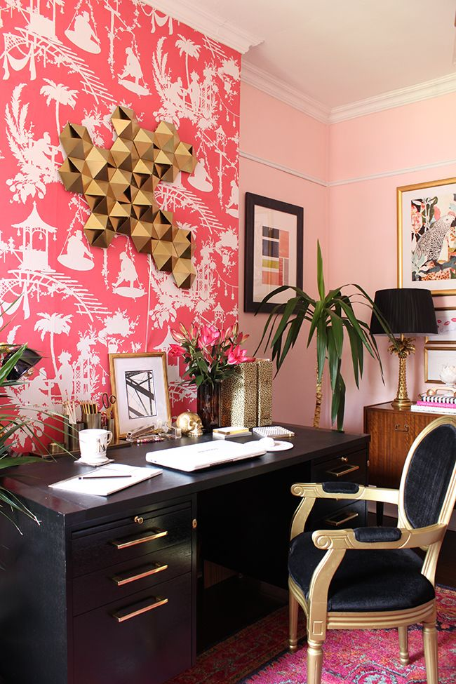 Rose Gold Home Office Decor
