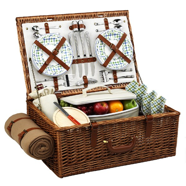 Dorset-Picnic-Basket-for-Four-with-Blanket
