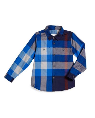 Mini-Camber-Check-Shirt-Bright-Navy