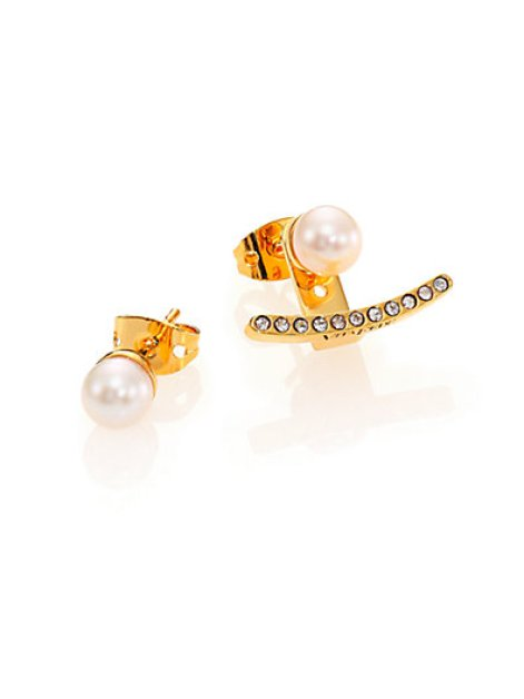 VITA-FEDE-WHITE-AKOYA-PEARL-CRYSTAL-EAR-JACKET-STUD-EARRING-SET