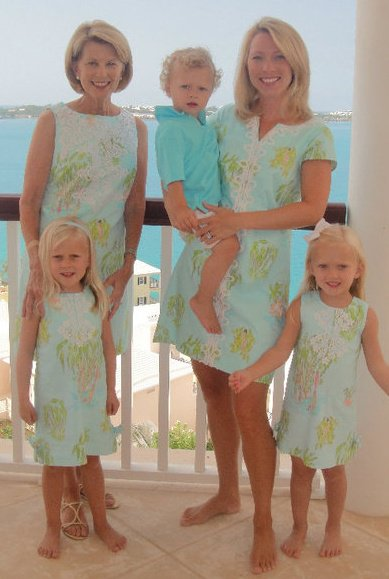 Me with my mother and children a few years ago in Bermuda