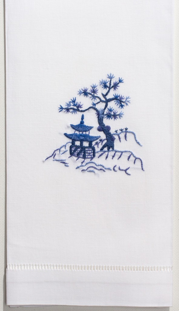 blue-pagoda-hand-towel-2