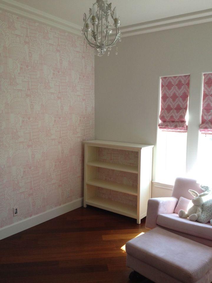 globetrotter-clarke and clarke-wallpaper-pink-nurserynotations