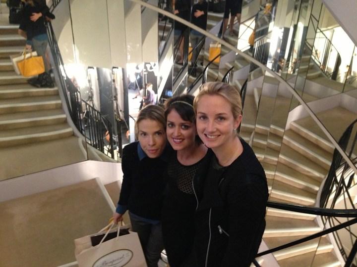Carina Crain, Wendy Stapleton Reyes and Nancy Fazzinga at Chanel Paris