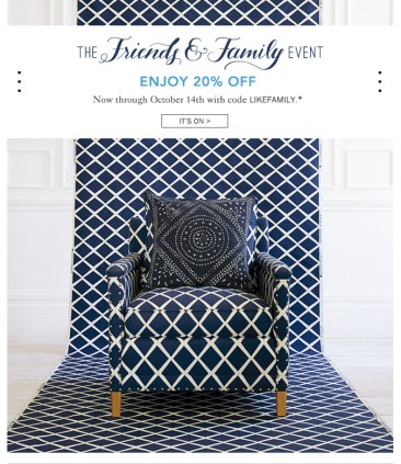 Big Home Decor & Fashion Friends & Family Sales Around the Web This Week!