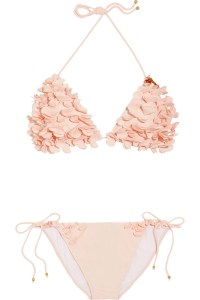 Miu Miu Floral Applique Bikini