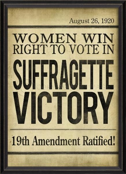 suffragette-victory-headline-framed-wall-art