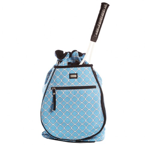 tennis backpack in villa blue