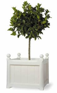 windsor white garden planter