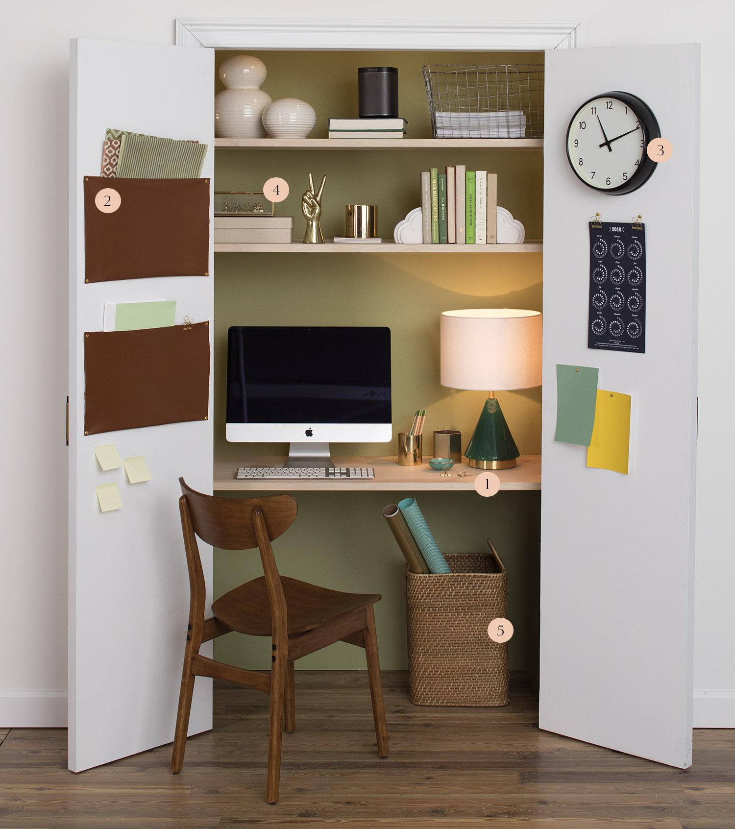 How To Transform A Closet Into A Home Office Front Main