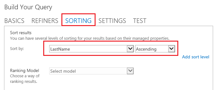 O365 SharePoint Sort People results by last name.