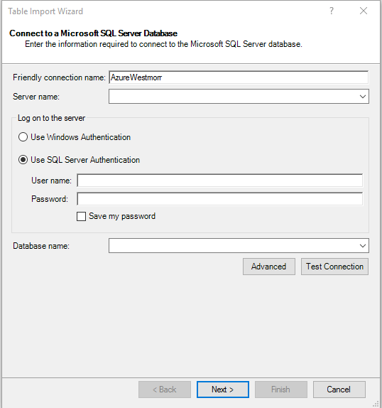 Excel Power Pivot Table Import Wizard.