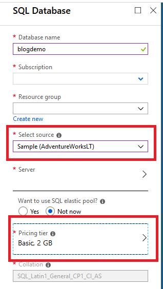Choose AdventureWorks SQL database.